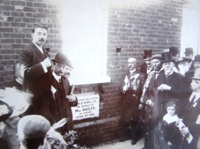 The Opening of the Church Hall, 1908